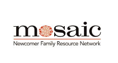 Logo of Mosaic Newcomer Family Resource Network.