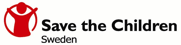 Save the Children Sweden logo.