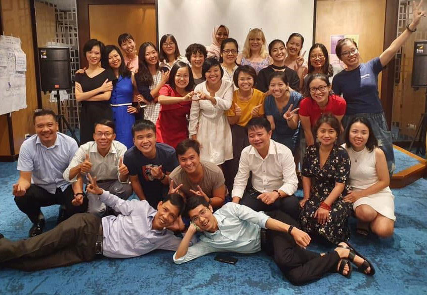 Group picture of Hanoi trainers.